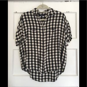 Madewell XS Gingham Courier Blouse